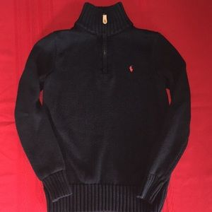 Ralph Lauren boys sweater 3/4 zipper
